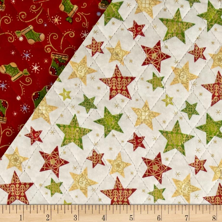 Christmas 2015 Double Sided Quilted Stockings Red - Discount ... : double faced quilt fabric - Adamdwight.com