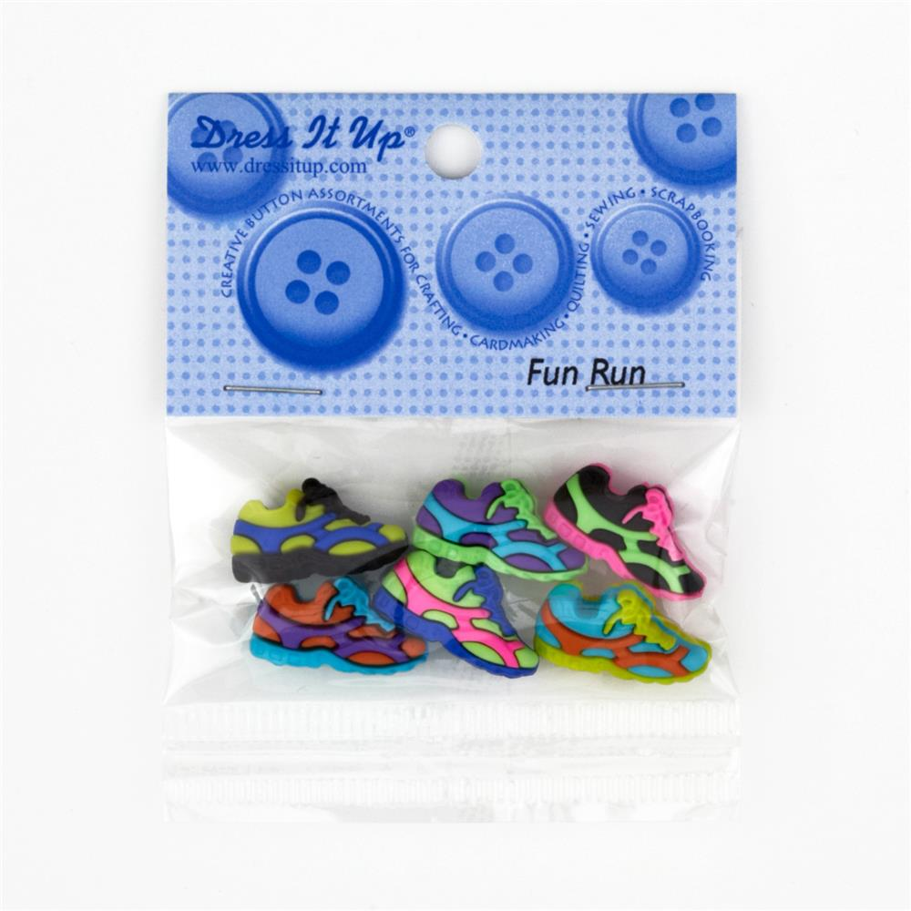 Dress It Up Embellishment Buttons Fun Run