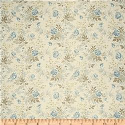 French General Floral Linen Le Mer