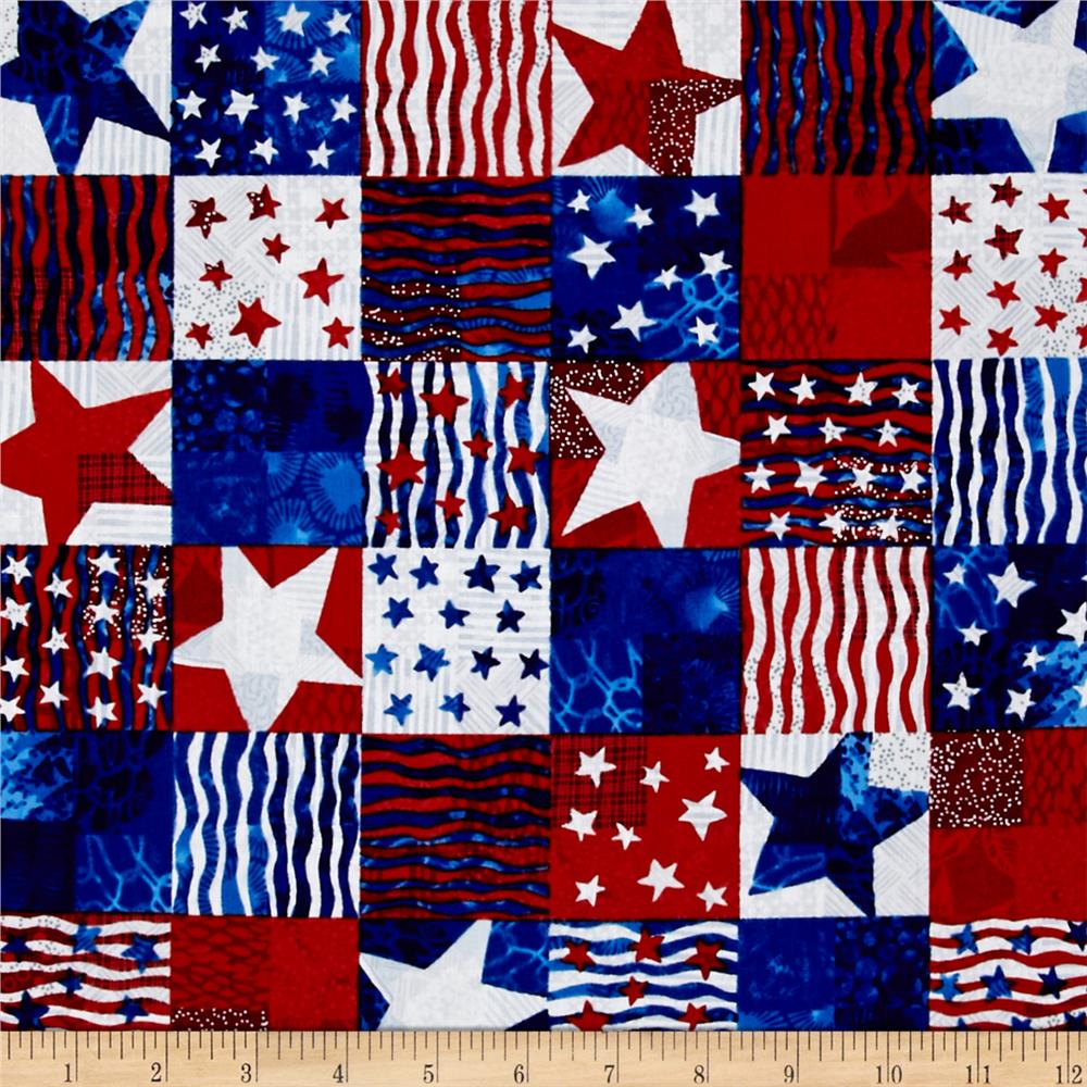 Https Www Fabric Com Buy 0433765 Hoffman Patriotic Palette Patchwork Americana