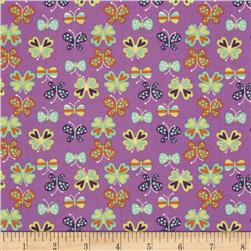 Timeless Treasures Butterflies Purple