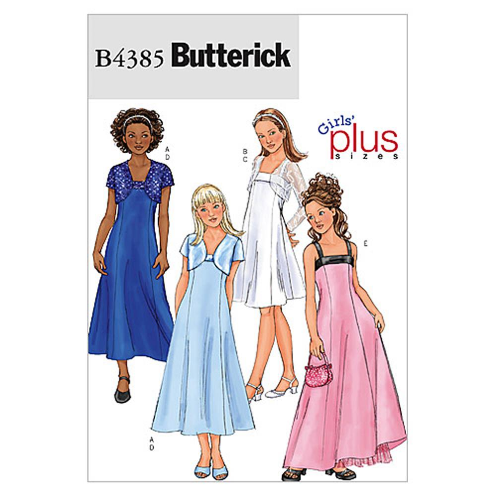 Butterick Girls'/Girls' Plus Jacket and Dress Pattern B4385