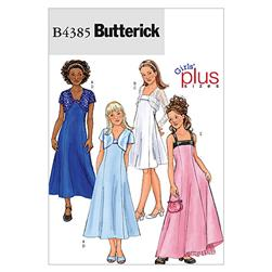 Butterick Girls'/Girls' Plus Jacket and Dress Pattern B4385 Size GIRL