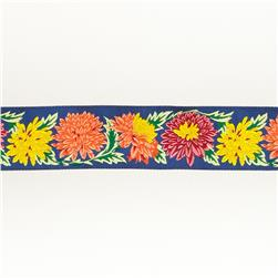 "1 1/2""Philip Jacobs Chrysanthemums on Navy"