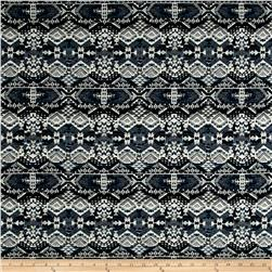 French Tribal Jacquard Navy/Blue/Green/Off White