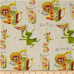 Michael Miller Here's To You Cream Fabric