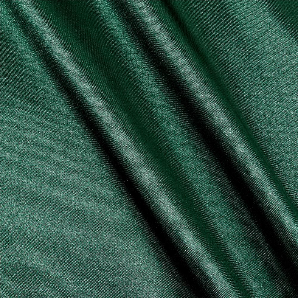 Poly Charmeuse Satin Hunter Green Fabric By The Yard