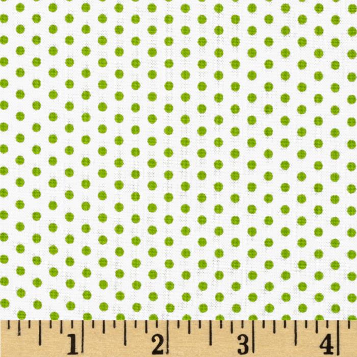 Kaufman Spot On Pindot Green