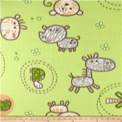 Baby Animals  Fleece Mint