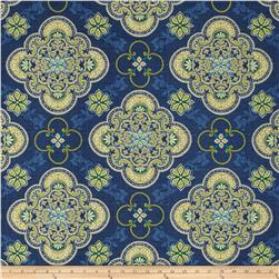 Tempo Indoor/Outdoor Medallion Blue/Green