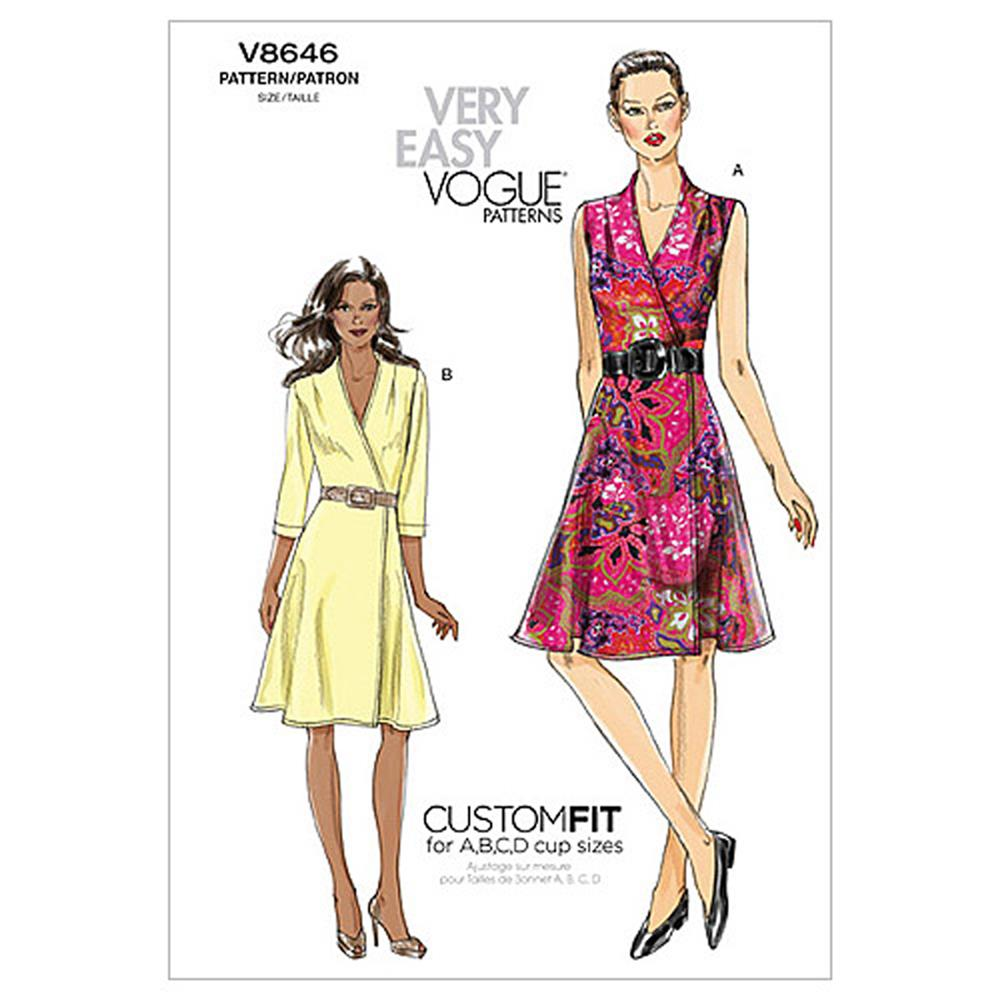 Vogue Misses' Dress Pattern V8646 Size AA0