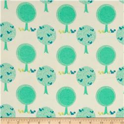 Riley Blake Acorn Valley Flannel Forest Cream