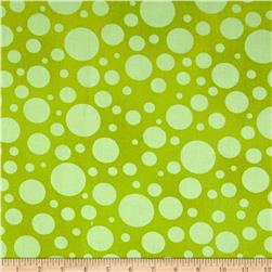 "110"" Wide Quilt Back Bubbles Lime"