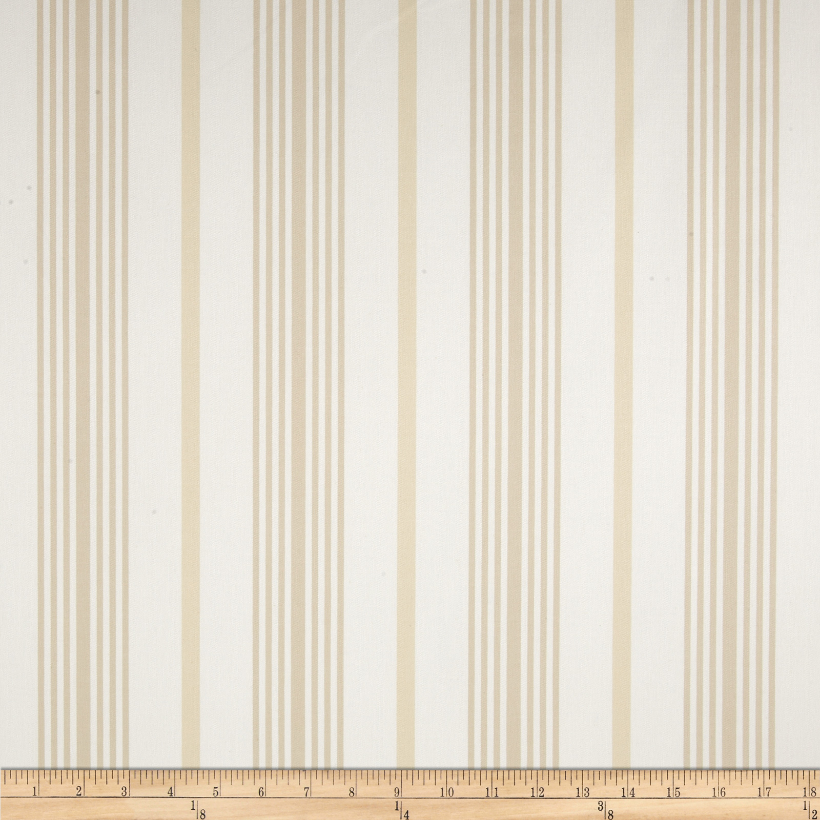 Nautica Wainscot Stripe II Natural Fabric