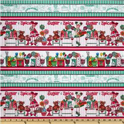 Gumdrops & Lollipops Scenic Stripe Red/Green
