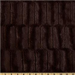 Minky Embossed Groovy Cuddle Chocolate