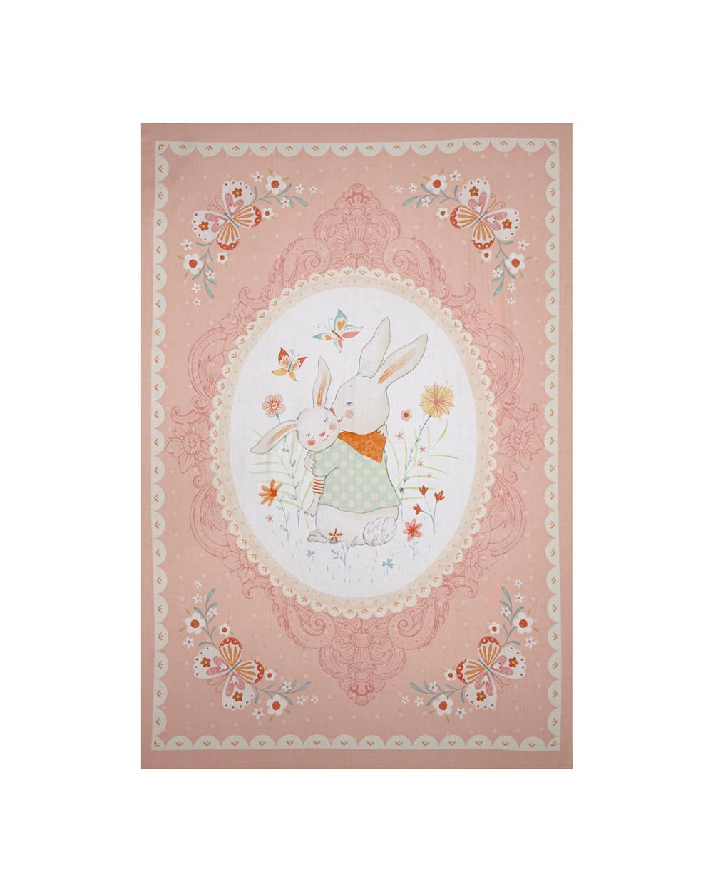 "Bunny Tales 29"" Panel Pink"