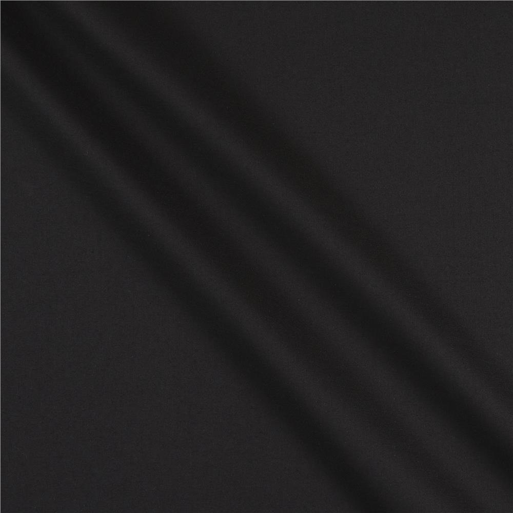 Cotton broadcloth black discount designer fabric for Black fabric