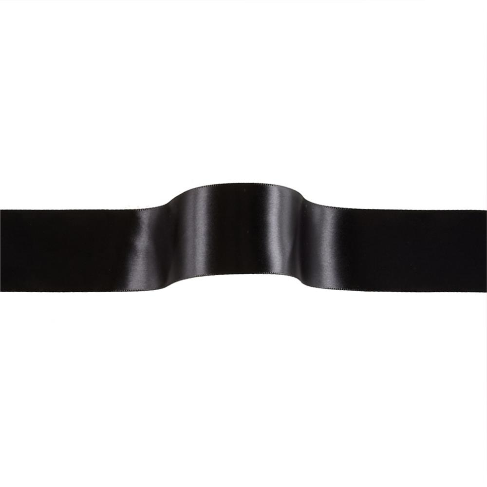 "1 1/2"" Offray Single Face Satin Ribbon Black"