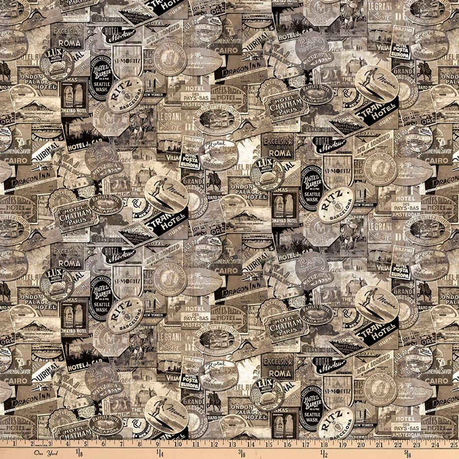 Zoom Tim Holtz Eclectic Elements Travel Labels Taupe