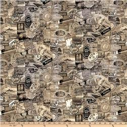 Tim Holtz Eclectic Elements Travel Labels Taupe