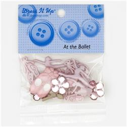 Dress It Up Embellishment Buttons  At The Ballet