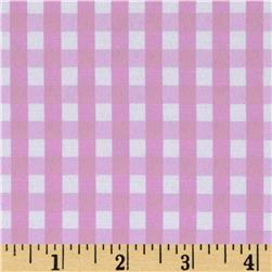 60'' Cotton Blend Woven 1/4'' Gingham Pink