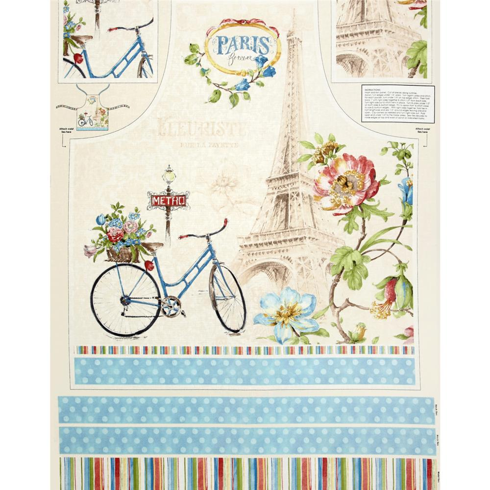 Paris Forever Apron 24'' Panel Multi