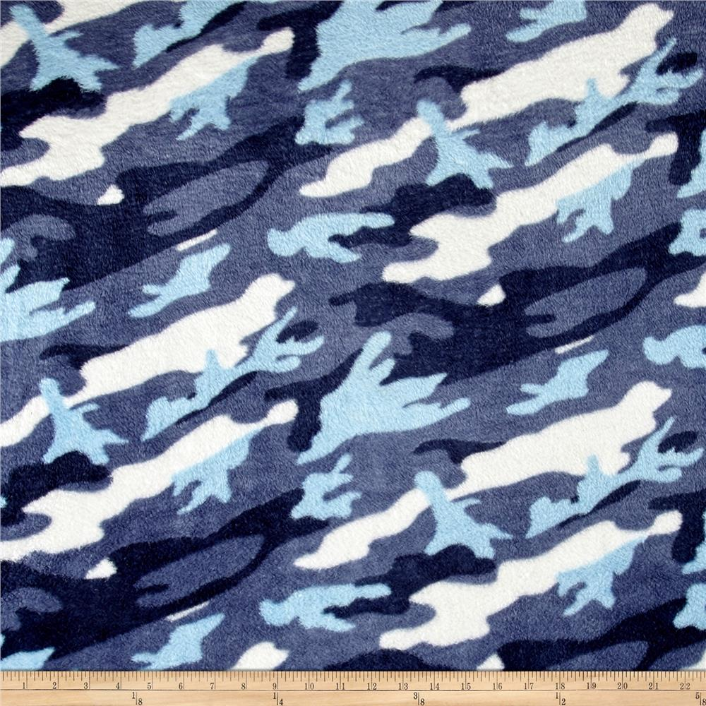 Whisper Plush Fleece Camouflage Blue