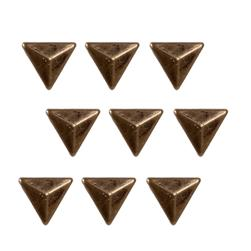 Brass Dome Triangle 24pc