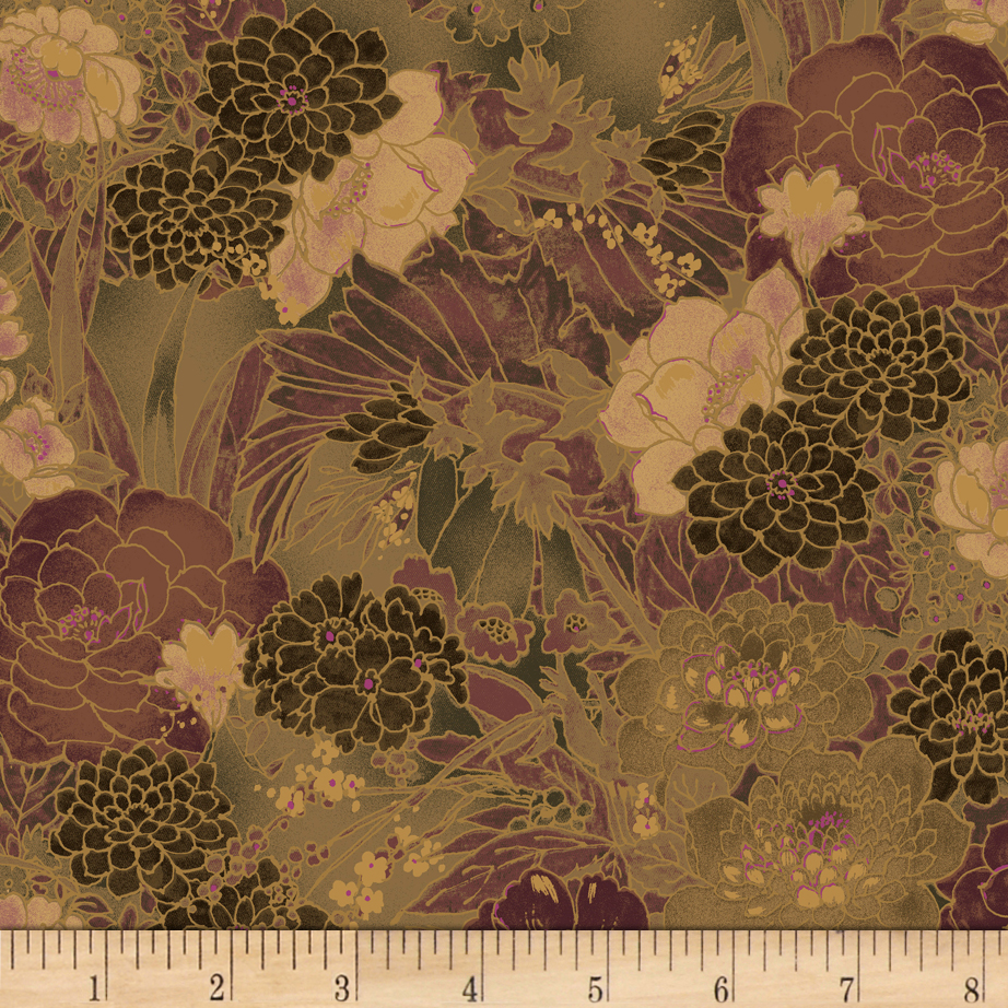 INOpets.com Anything for Pets Parents & Their Pets Miyako Garden Taupe Fabric