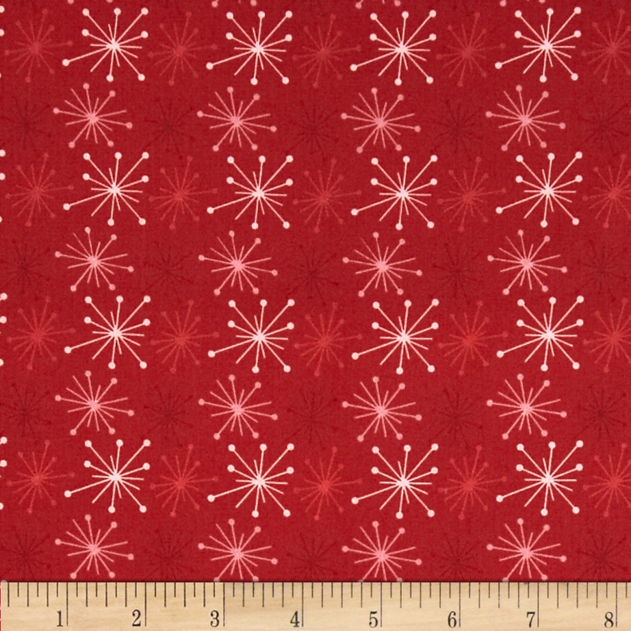Color Love Star Burst Red Fabric