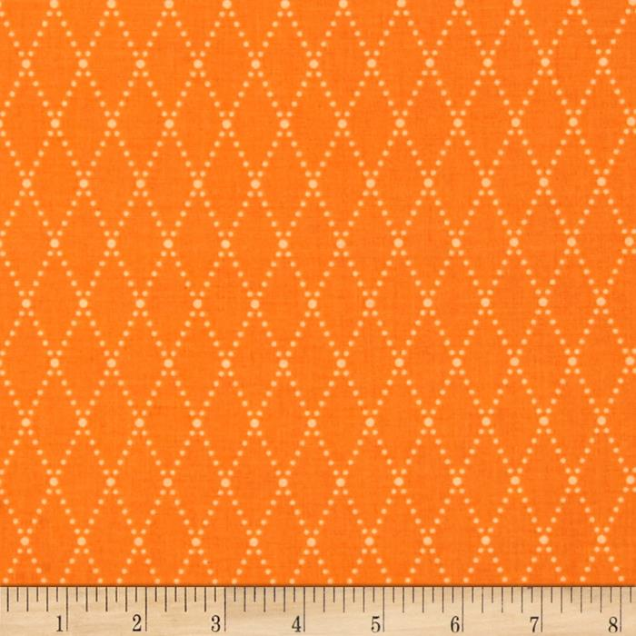 Riley Blake Lucky Star Argyle Orange
