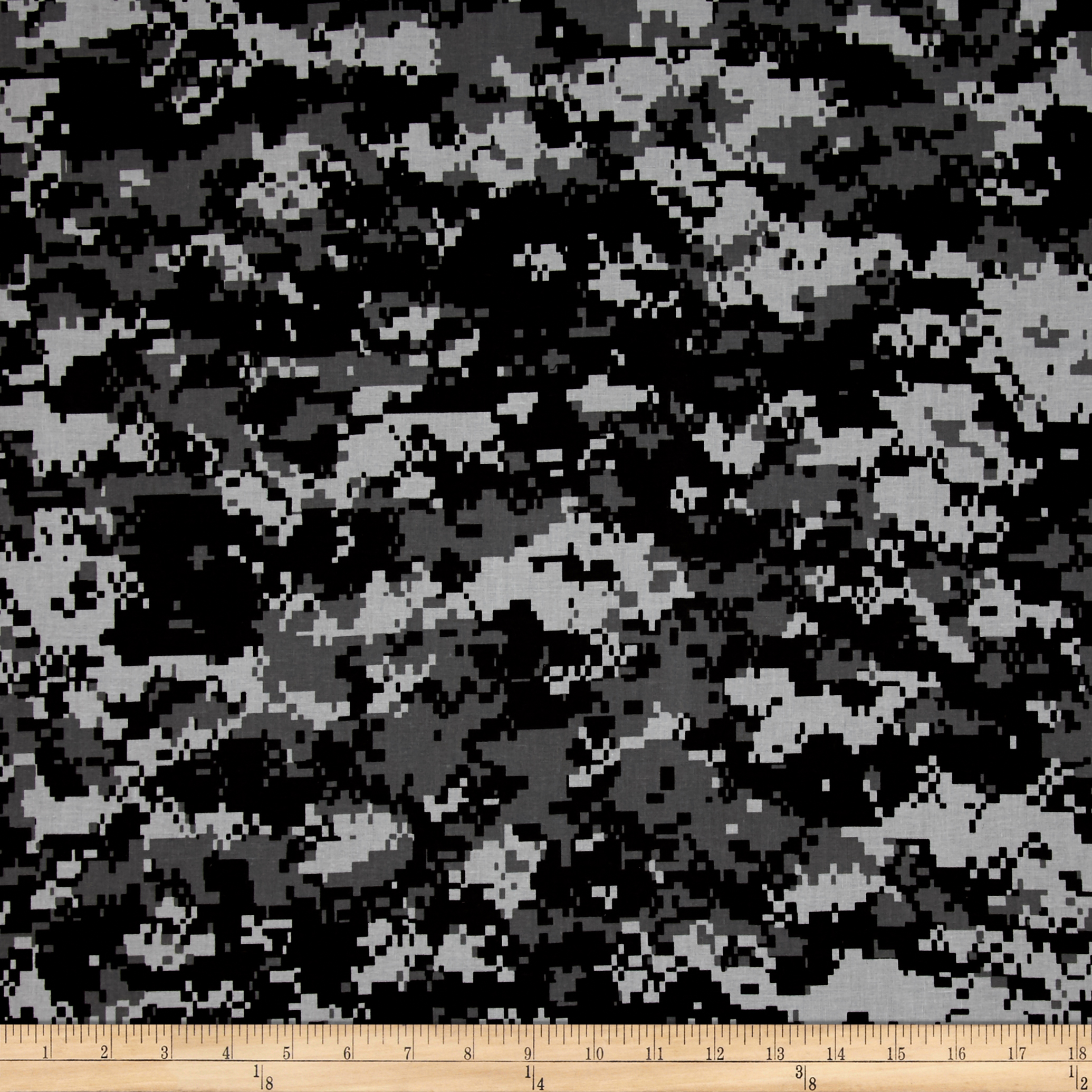 Urban Camouflage Black/Grey Fabric by Santee in USA