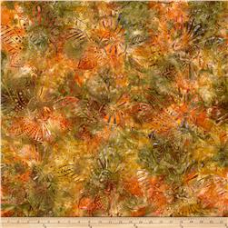 Wilmington Batiks Large Floral Rust/Multi