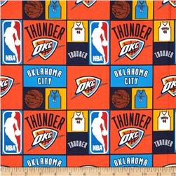 NBA Cotton Broadcloth Oklahoma City Thunder Multi Fabric