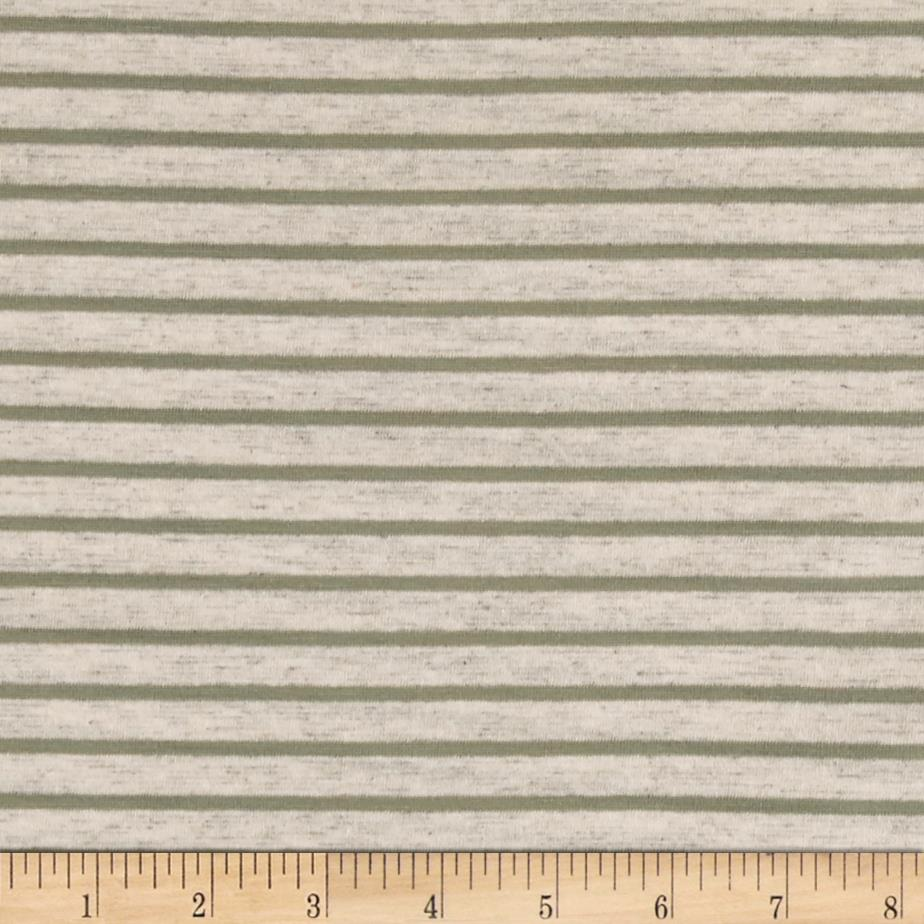 Jersey Knit Stripes Sage/Beige
