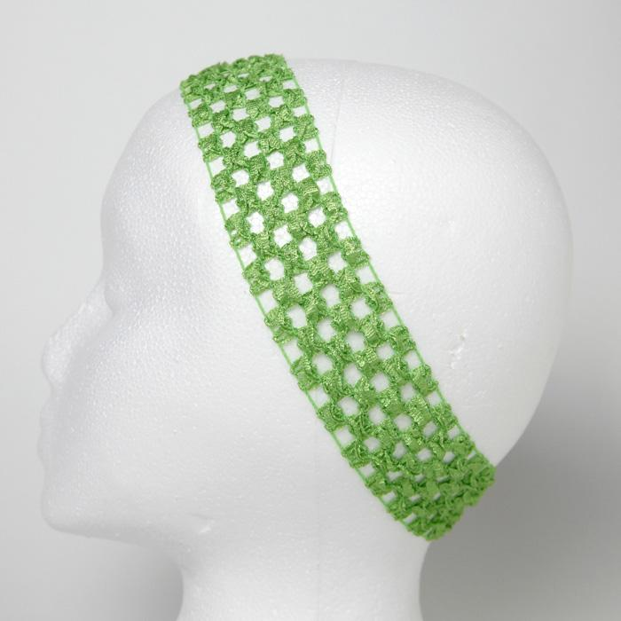 1 3/4'' Stretch Crochet Headband Lime