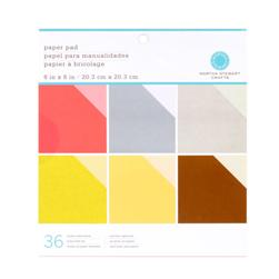 "Martha Stewart Crafts Paper Pad 8"" X 8"" Tonals"