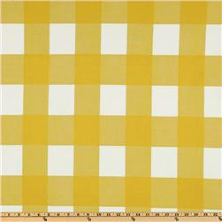Premier Prints Anderson Check Slub Corn Yellow/White