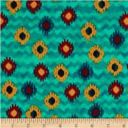 Timeless Treasures Small Ikat Turquoise