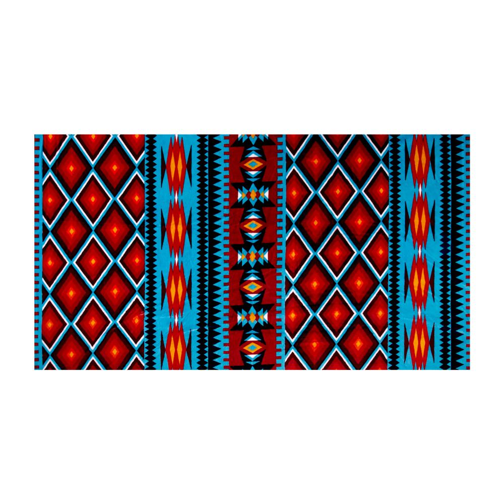 Shannon Minky Cuddle Prints Aztec Dark Turquoise