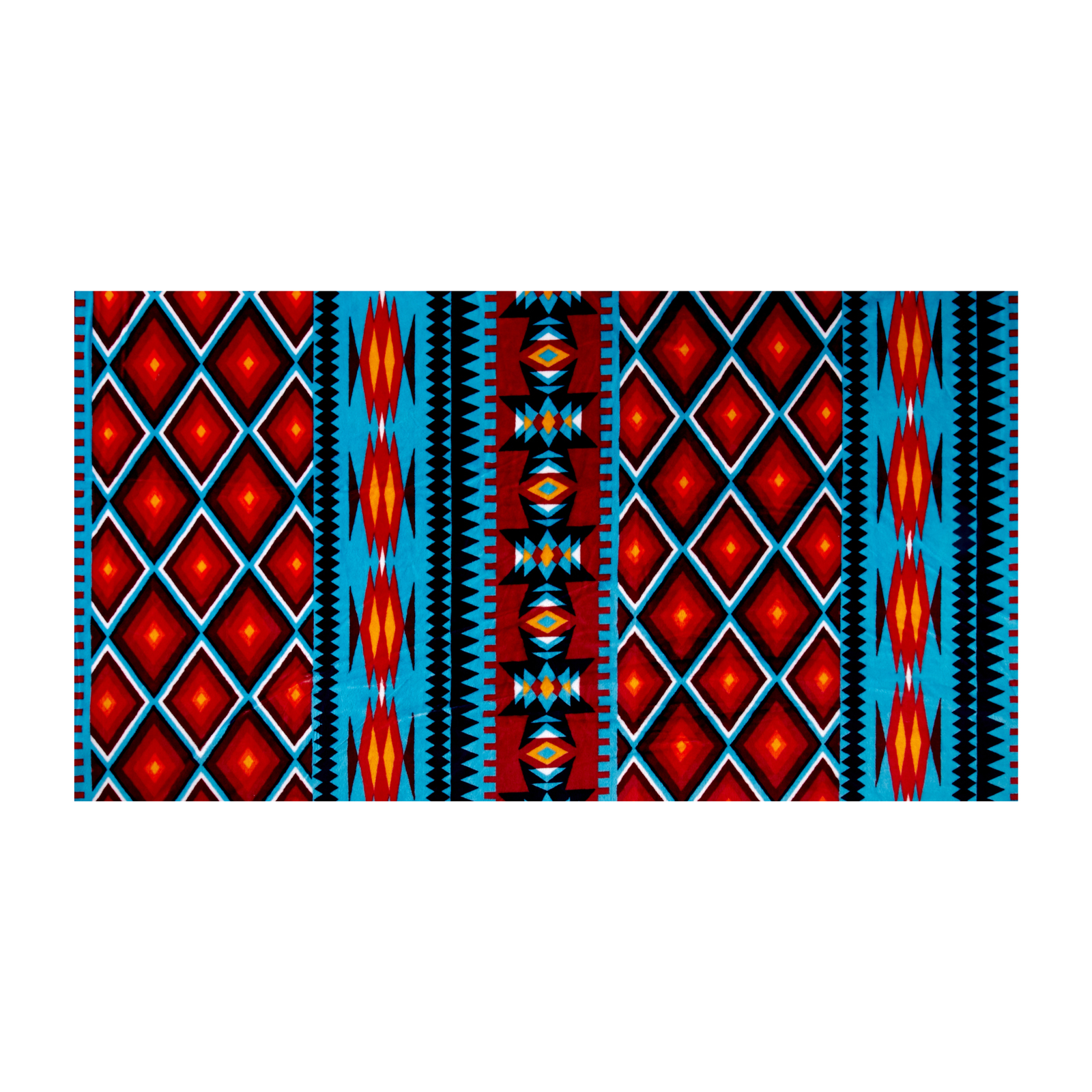 Shannon Minky Cuddle Prints Aztec Dark Turquoise Fabric by Shannon in USA