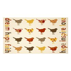 Birds and Blooms Songbird 24'' Panel Yellow/Multi Fabric