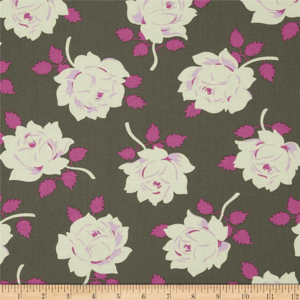 Heather Bailey Lottie Da Vintage Rose Charcoal