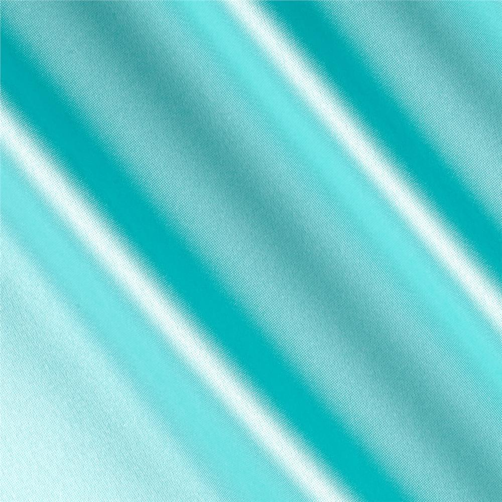 Silky Satin Charmeuse Solid Teal Green Fabric