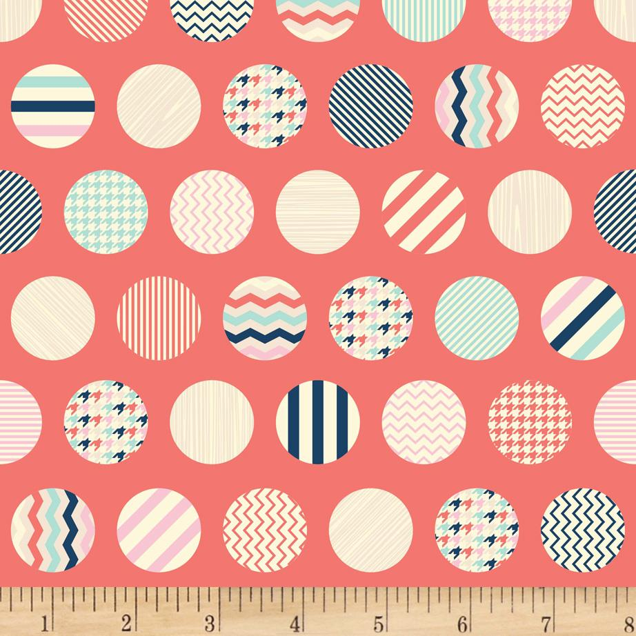 Riley Blake Trendsetter Dots Coral