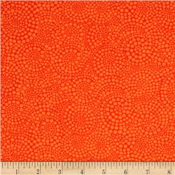 Timeless Treasures Pop Basic Circle Dots Orange