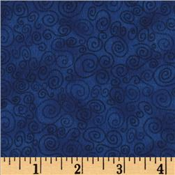 Cuddle Flannel Swirls Royal