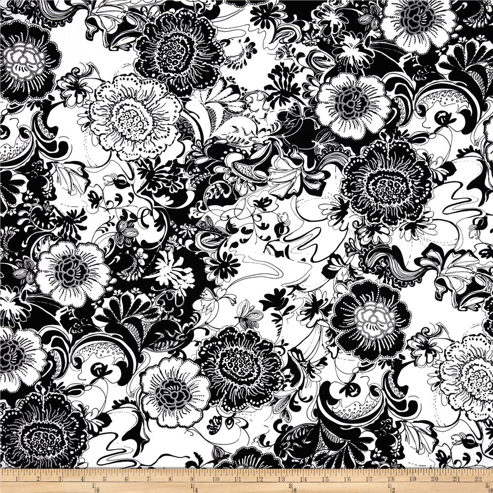 Black Tie Affair Large Floral Black